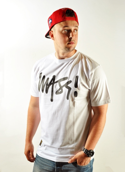 Mass Denim  Signature Tee Wht