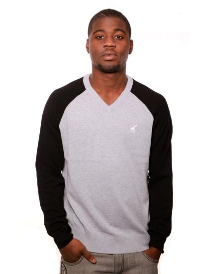 LRG  CC Raglan V Sweater Gre