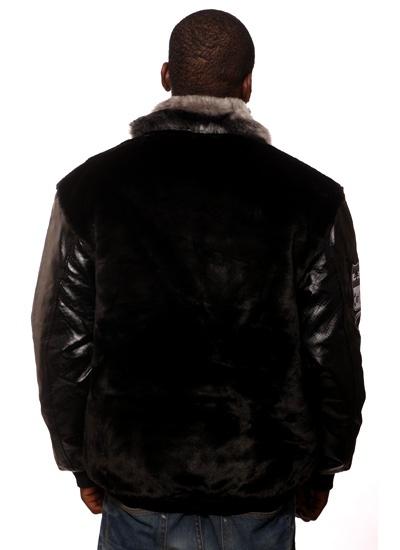 Hoodboyz  Fur Collar Jacket Blk