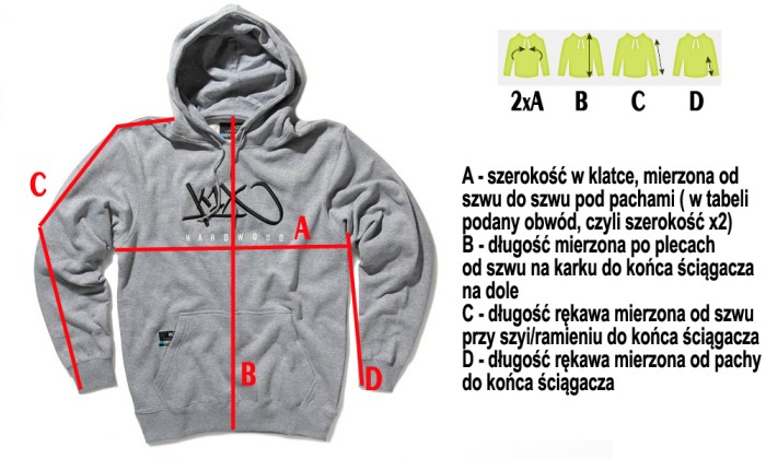 Wymiary bluz w sklepie dopespot.pl