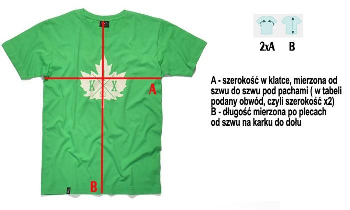 Wymiary koszulek w sklepie dopespot.pl