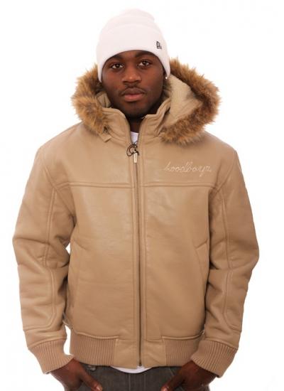Hoodboyz  Leather Sign Jacket Crm
