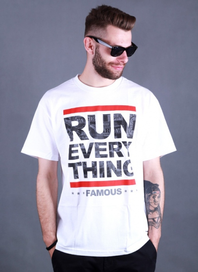 Famous Stars And Straps  Run Everything Tee Wht