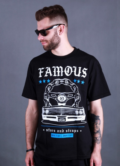 Famous Stars And Straps  Drive It Out Tee Blk