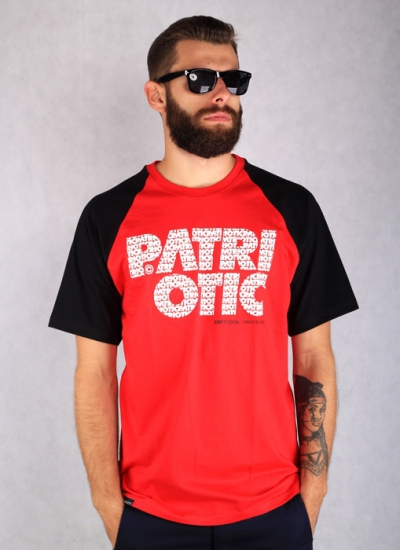Patriotic  CLS Fonts Tee Red