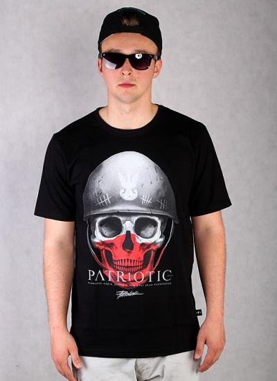 Patriotic  Skull New Tee Blk