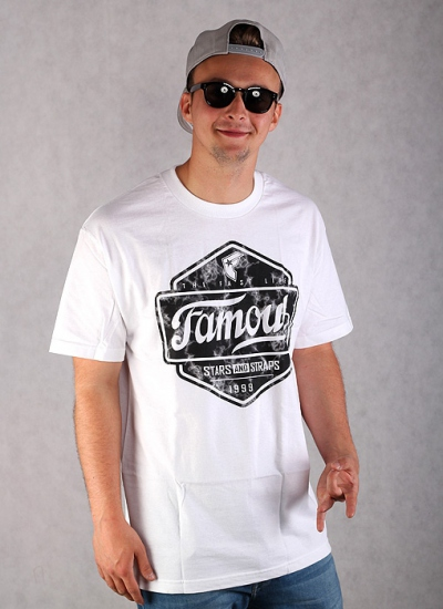 Famous Stars And Straps  Top Marble Tee Wht