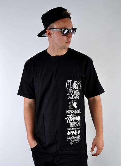 Stussy  Global Gathering Tee Blk