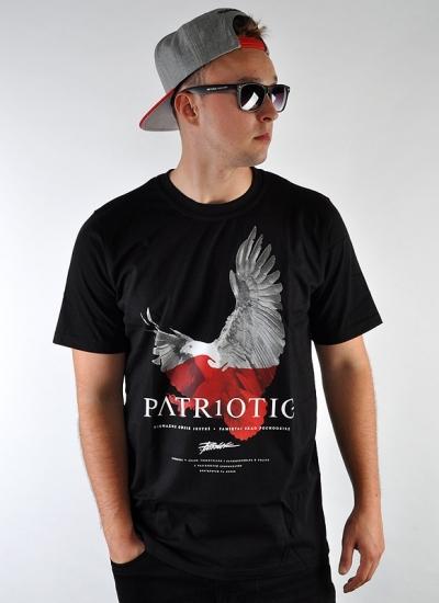 Patriotic  Eagle Tee Blk
