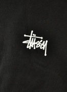 Stussy  Basic Logo Crew Blk