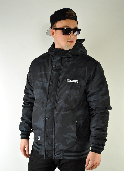 Mass Denim  District Jacket Camo Blk