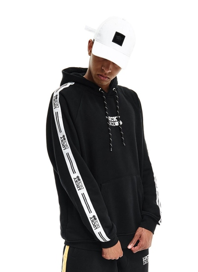 Lucky Dice  Tape Logo Hoodie Blk