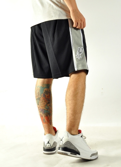 Mitchell & Ness  Swingman Shorts Spurs Blk