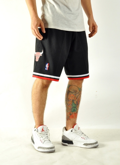 Mitchell & Ness  Swingman Shorts Bulls Blk