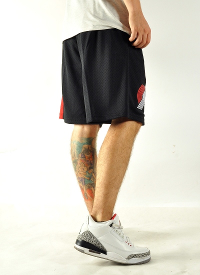 Mitchell & Ness  Swingman Shorts Blazers Blk