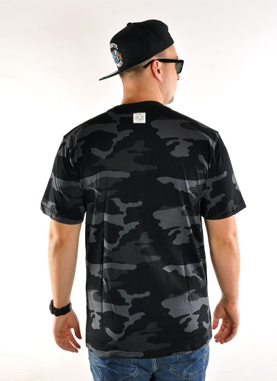 Mass Denim  Base Tee Camo Blk