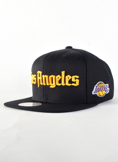 Mitchell & Ness  Gothic Snapback LA Lakers