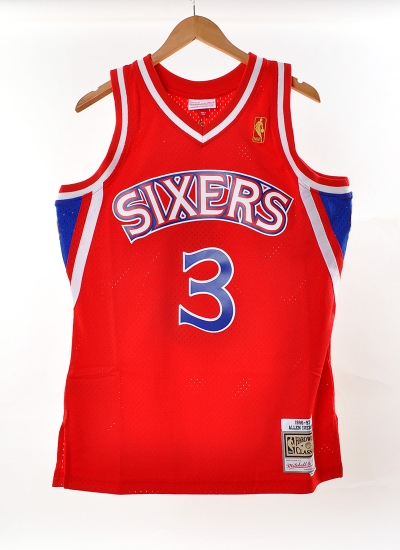 Mitchell & Ness  Swingman Jersey Sixers Iverson Red