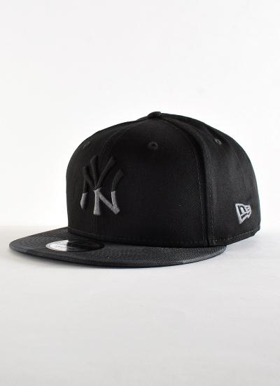 New Era  NY Snapback Blk Gre