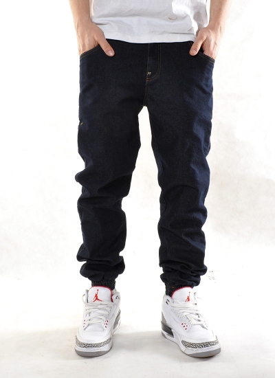 Moro Sport  Base Leather Jogger Jeans Drk