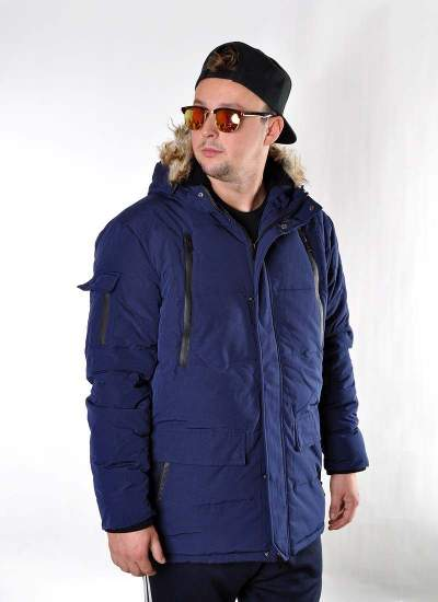 Prosto Klasyk  Long Jacket Nvy