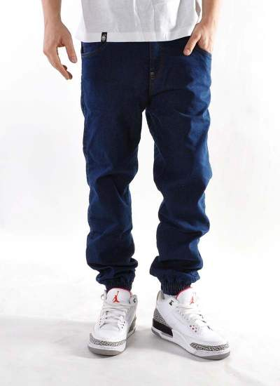 Moro Sport  Big Leather Jogger Jeans Mid