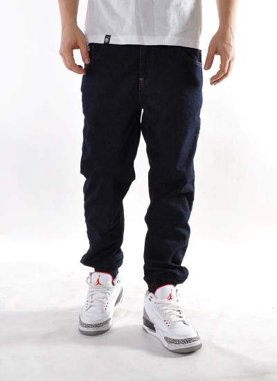 Moro Sport  Big Leather Jogger Jeans Drk