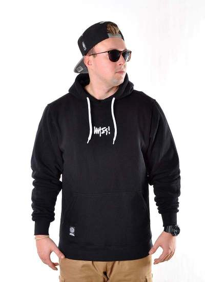 Mass Denim  Signature Small Logo Hoody Blk