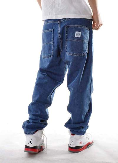 Mass Denim  Craft Baggy Niebieskie