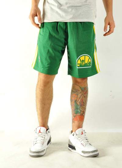 Mitchell & Ness  Swingman Shorts Sonics Grn