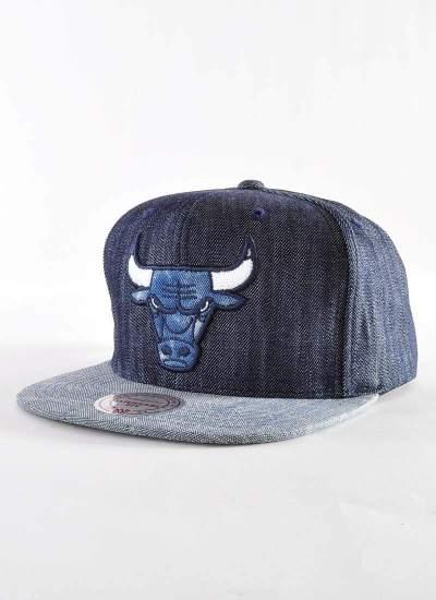 Mitchell & Ness  Raw Denim Snapback Bulls