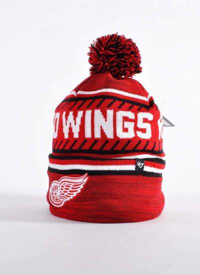 47 Brand  Ice Cap Pom Red Wings