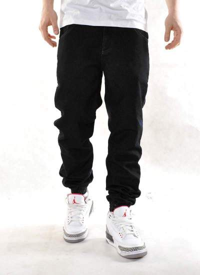 Moro Sport  Base Leather Jogger Jeans Blk