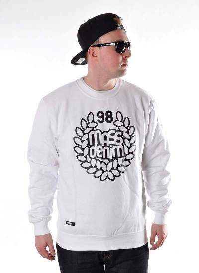 Mass Denim  Base Crewneck biała