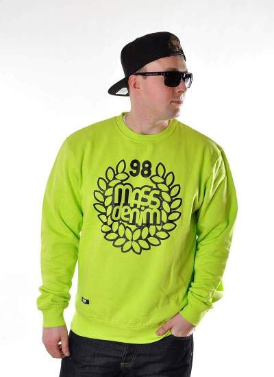 Mass Denim  Base Crewneck neon