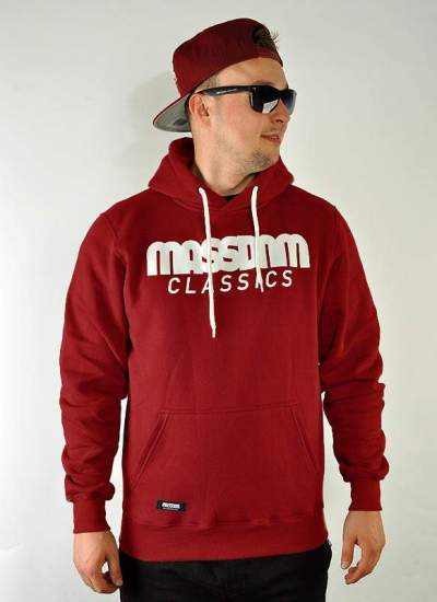 Mass Denim  Classics Hoody bordo