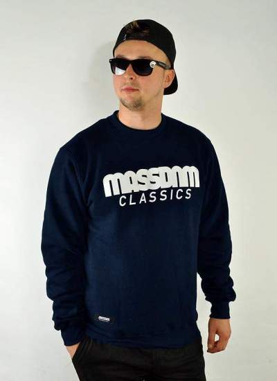 Mass Denim  Classics Crewneck granat