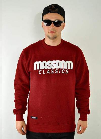 Mass Denim  Classics Crewneck bordo