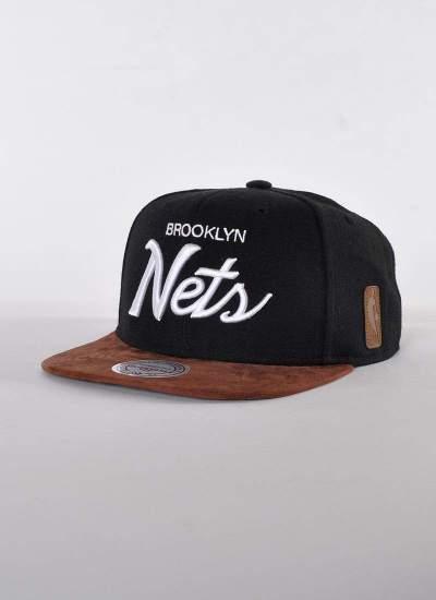Mitchell & Ness  Script Nets Snapback czarna