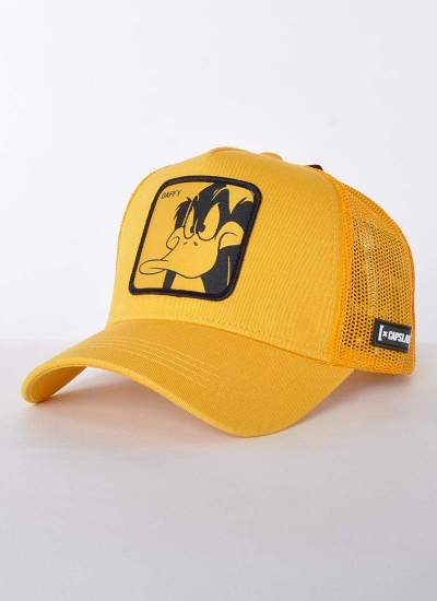 Capslab  LOONEY TUNES DAFFY DUCK Trucker żółty