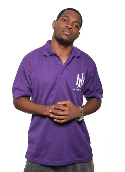 Hoodboyz  Basic Polo Purple Wht