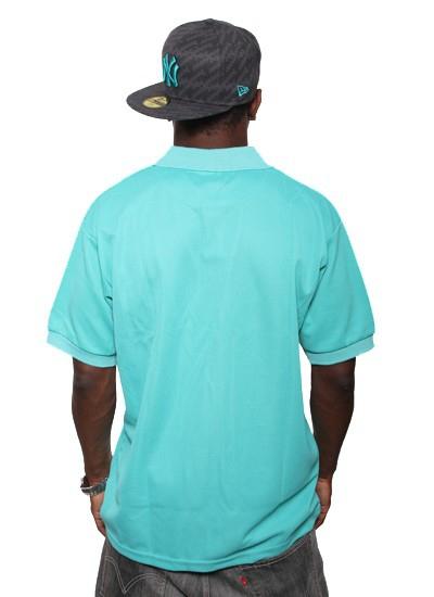Hoodboyz  Basic Polo Turquise Wht